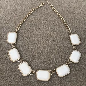 Gold and white Zara necklace
